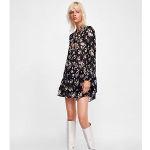 Zara floral print tunic- M